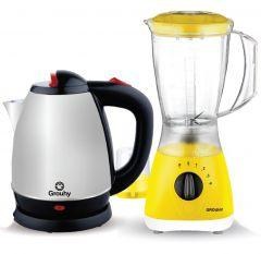 Set of Grouhy Blender with 2 Grinders and Electric Kettle
