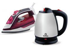 Set of Grouhy Steam Iron and Electric Kettle