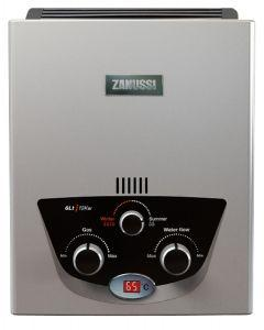 Zanussi Delta Gas Water Heater with Natural Discarge, 6 Liter, Silver - ZYG06313SL