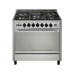 Universal Freestanding Gas Cooker, 5 Burners, Stainless Steel, 90 cm - 6905PR7