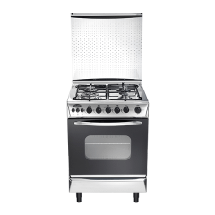 Universal Freestanding Grand Rosa Gas Cooker, 4 Burners, Stainless Steel, 60 cm - 5608-2