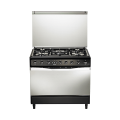 Universal Freestanding Diamond Gas Cooker, 5 Burners, Black, 90 cm - D9605-21