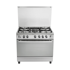Universal Freestanding Infinity Gas Cooker, 5 Burners, Stainless Steel, 90 cm - 9605IF