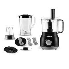 Mienta Food Processor, 800 Watt, 2 Liter, Black - FP14922B