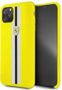 Ferrari Silicone Back Cover For Apple iPhone 11 Pro Max - Yellow