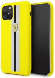Ferrari Silicone Back Cover For Apple iPhone 11 Pro  - Yellow