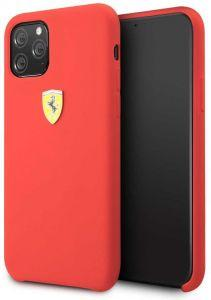 Ferrari Silicone Back Cover For Apple iPhone 11 Pro  - Red