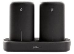 Ttec PowerStones Power Bank Set, 2×5000mAh, Black - 2BB148S