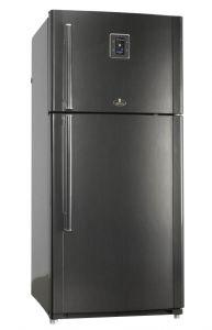 Kiriazi Freestanding Digital Refrigerator, No Frost, 2 Doors, 690 Liters, Brown - KH690