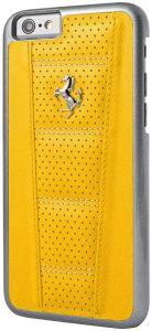Ferrari 458 Leather Back Cover for iPhone 6/6s – Yellow