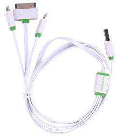 Yes-Original 3 In 1 USB Data Charging Cable, 1 Meter - White