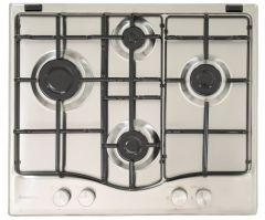 Ariston Built-In Gas Hob, 4 Burners, Stainless Steel, 60 cm - PCN 642 IX/A