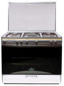 Kiriazi Gas Cooker, 5 Burners, Stainless Steel- G8900S