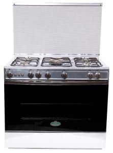 Kriazi Freestanding Gas Cooker, 5 Burners, Silver- 9700SS