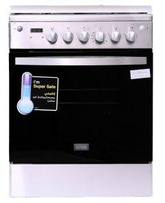 Zanussi Gas Cooker, 4 Burners, Stainless Steel- ZCG64396XA
