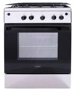 Zanussi Freestanding Gas Cooker, 4 Burners, Stainless Steel- ZCG61026XA