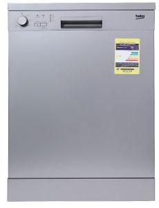 Beko Freestanding Dishwasher, 14 Persons, 5 Programs, Silver- DFN05410S