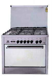 Fresh Professional Control Freestanding Gas Cooker, 5 Burners, Stainless Steel- 1538