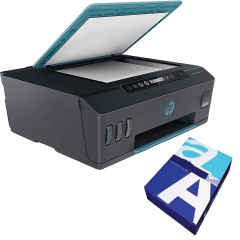 HP Smart Tank 516 Wireless All-in-One Printer, Black - 3YW70A, With A4 Size Copy Paper Pack