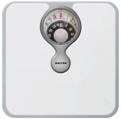 Salter Magnified Display Mechanical Bathroom Scales, White - 484 WHDR