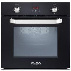 Elba Built-In Gas Oven With Grill, 59 Litres, Black- 512-7GTC