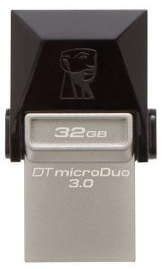 Kingston Data Traveler Micro Duo OTG USB 3.0 Flash Drive, 32GB, Black - DTDUO3