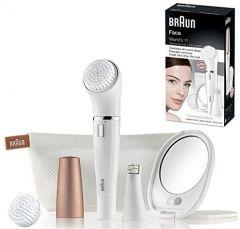 Braun Face Epilator and Cleansing Brush, Multicolor - SE 840