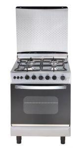 Universal Grand Rosa Gas Cooker, 4 Burners, Silver- 5504 GR