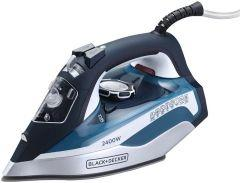 Black + Decker Steam Iron, 2400 Watt, Blue - X2150