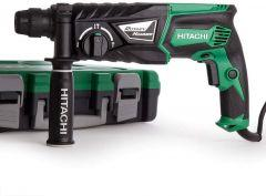 Hitachi Rotary Hammer, 830 Watt, Black/Green - DH26PC