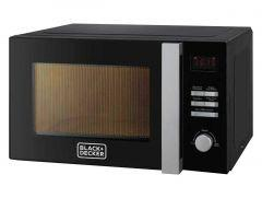 Black + Decker Microwave with Grill, 28 Litre, Black - MZ2800PG