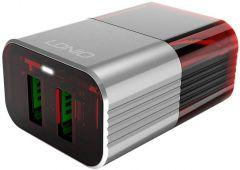 Ldnio Wall Charger USB with Micro USB Cable, 2 Ports, Multi Color - A2206