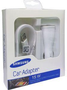 Samsung Car Charger With Micro USB Cable, 15W, 1 Port - White