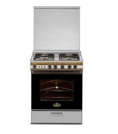 Kiriazi Gas Cooker 4 Burners, Silver- 6400s1