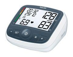 Beurer Upper Arm Blood Pressure Monitor, White/Grey - BM 40