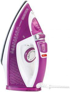 Black+Decker Steam Iron, 2400 Watt, White/Purple - X2450-B5
