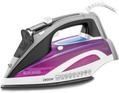 Black + Decker Digital Steam Iron, 2800 Watt, Multicolor - X2250-B5