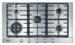 Miele Built-In Gas Hob, 5 Burners, Stainless Steel, 90 cm - KM 2052 G