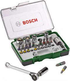 Bosch Screwdriver / Ratchet Set, 27 Pieces - 2607017160