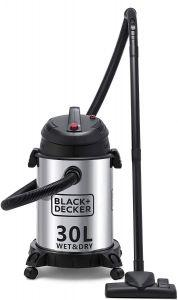 Black + Decker Drum Vacuum Cleaner, 1610 Watt, Silver/Black - WV1450-B5