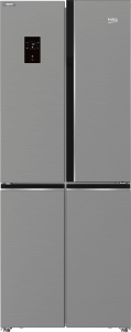 Beko No-Frost Refrigerator, 450 Litres, Inverter Motor, Stainless Steel- GNE480E20ZXP