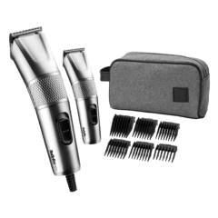 Babyliss Hair Clipper with Mini Trimmer for Men, Stainless Steel - 7755PE