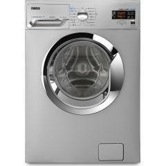 Zanussi Front Load Automatic Washing Machine, 7 KG, Silver- ZWF7040SXV