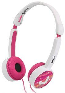 SBS Soft Sound On Ear Wired Headphones With Microphone - Pink