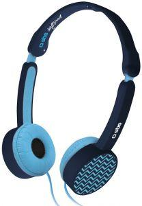 SBS Soft Sound On Ear Wired Headphones With Microphone - Blue