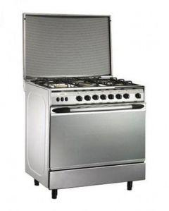 Universal Elegant Freestanding Cooker, 5 Burners, Stainless Steel - 8505