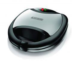 Black + Decker Sandwich, Grill and Waffle Maker, 750 Watt, Black - TS2090