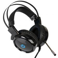 HP Over-Ear Wired Headphone With Microphone, Black - H120