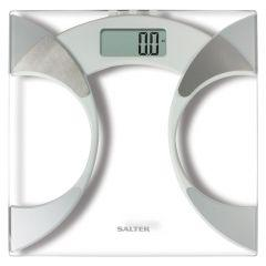 Salter Ultra Slim Glass Analyser Body Fat Scale, White - 9141 WH3R