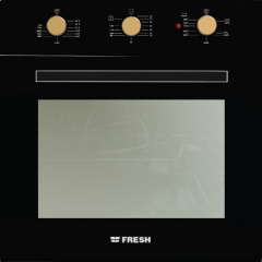 Fresh Built-In Dual Oven With Grill, 70 Liters, Black - 9636